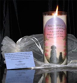 Gift Bag with Memorial Candle